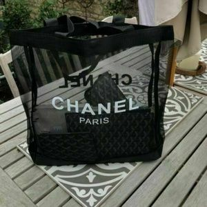 CHANEL VIP NEW MESH TOTE BEACH BAG